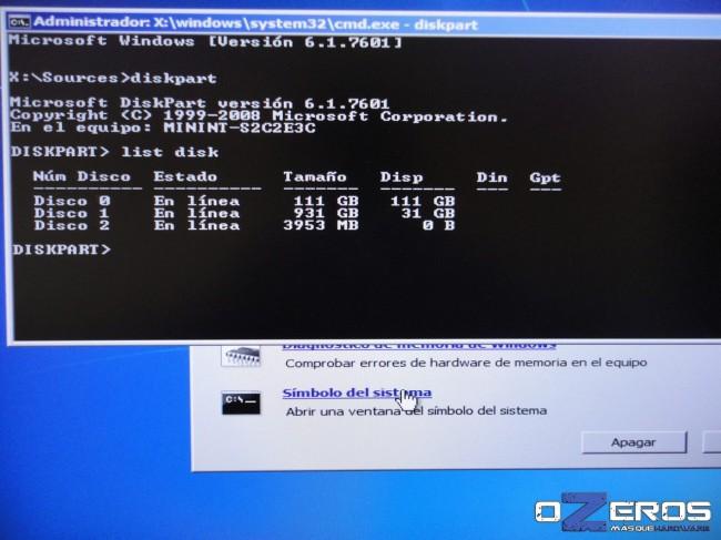 Guía: Alineación de SSD en 1024K usando Disk Part (Windows 7) | OZEROS