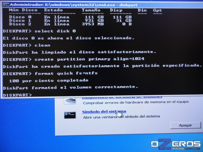 Guía: Alineación de SSD en 1024K usando Disk Part (Windows 7