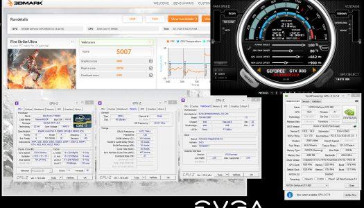 K|NGP|N & EVGA baten récords gráficos con una GTX 980 que corre a 2200 MHz