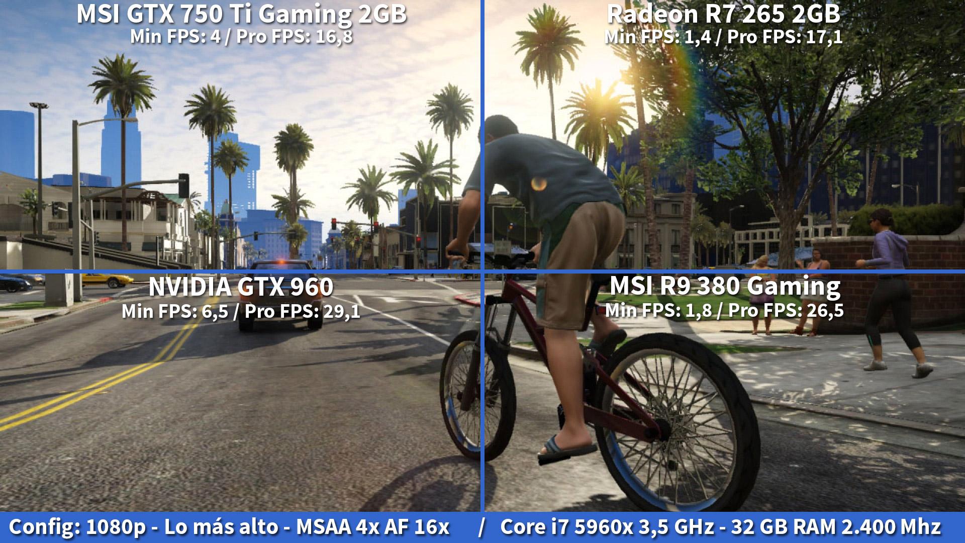 Review Tarjeta Grfica Msi Geforce Gtx 750 Ti Gaming 2gb Maxwell Twin Frozr Gta V