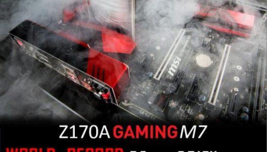 La MSI Z170A Gaming M7 rompiendo records y tomando el trono la liga de Overclocking