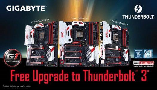 Actualización de BIOS para placas madre Gigabyte con chipset Z170 entrega soporte para Thunberbolt 3
