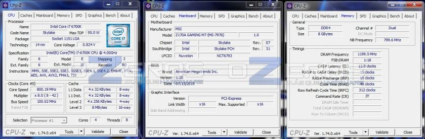 core i7-6700k - idle