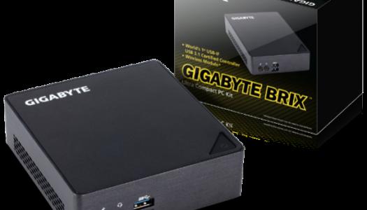 GIGABYTE Expande su linea de Certificaciones Thunderbolt™ 3 con 4 Nuevos Sistemas BRIX