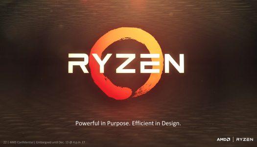 CPUs Ryzen de AMD posan ante las camaras
