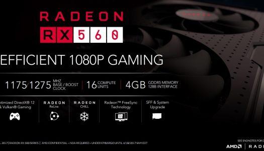 AMD nos presenta su nueva tarjeta gráfica Radeon RX 560