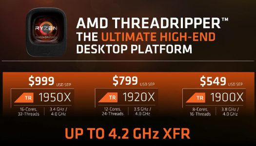 AMD lanza los procesadores Ryzen Threadripper 1900X