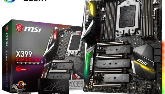 MSI anuncia nuevas placas madre para procesadores Ryzen