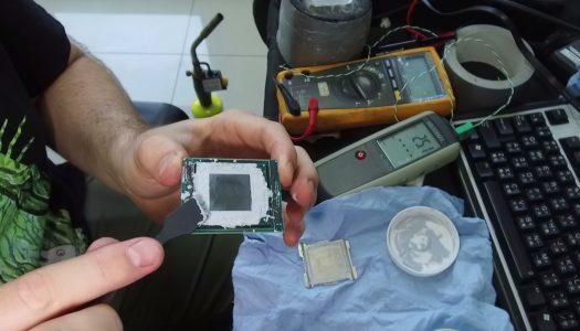 Intel Core i9-7980XE de 18 núcleos, overclockeado a 6.1 GHz, alcanza los 1000 Watts de consumo