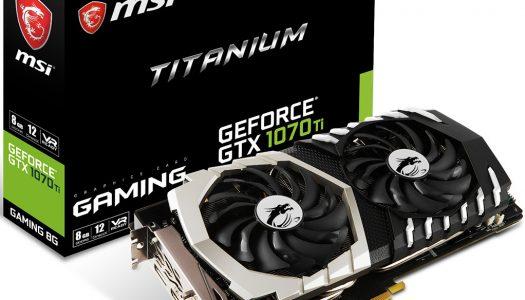 MSI anuncia cuatro nuevas tarjetas basadas en la GTX 1070 Ti