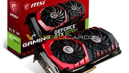 Se filtran los modelos que MSI lanzará de la GTX 1070 Ti