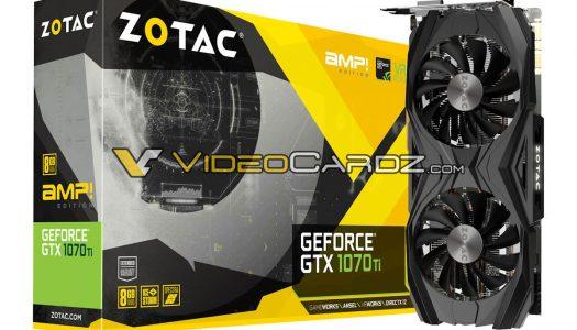 Se filtran nuevas tarjetas gráficas de Zotac basadas en la GTX 1070 Ti