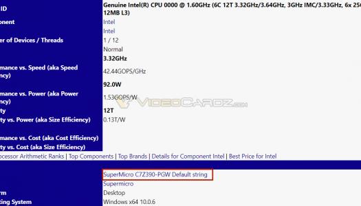 Aparece la primera placa madre Intel con chipset Z390